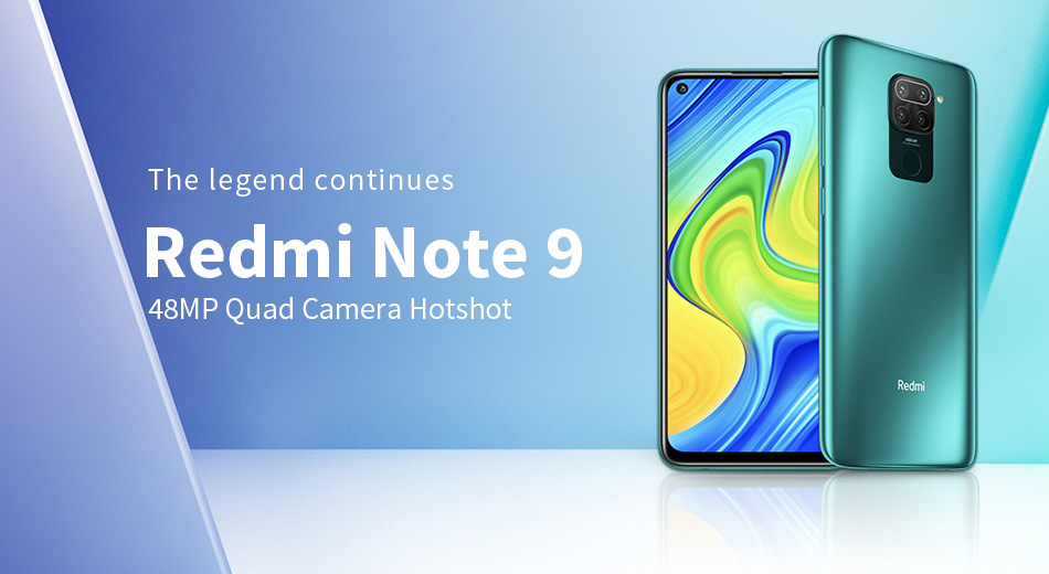 Global Version Xiaomi Redmi Note 9 4GB 128GB NFC Mobile Phone MTK Helio G85 Octa Core 48MP Quad Cameras 5020mAh Battery