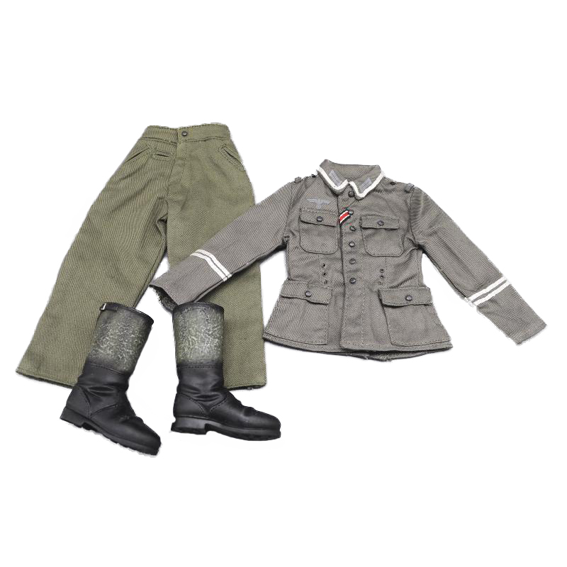 1 6 scale WWII German Suit Military Uniform Clothes Defense Forces uniform shirt Pants Boots Full Set For 12 quot DIY Action Figure in Action amp Toy Figures from Toys amp Hobbies