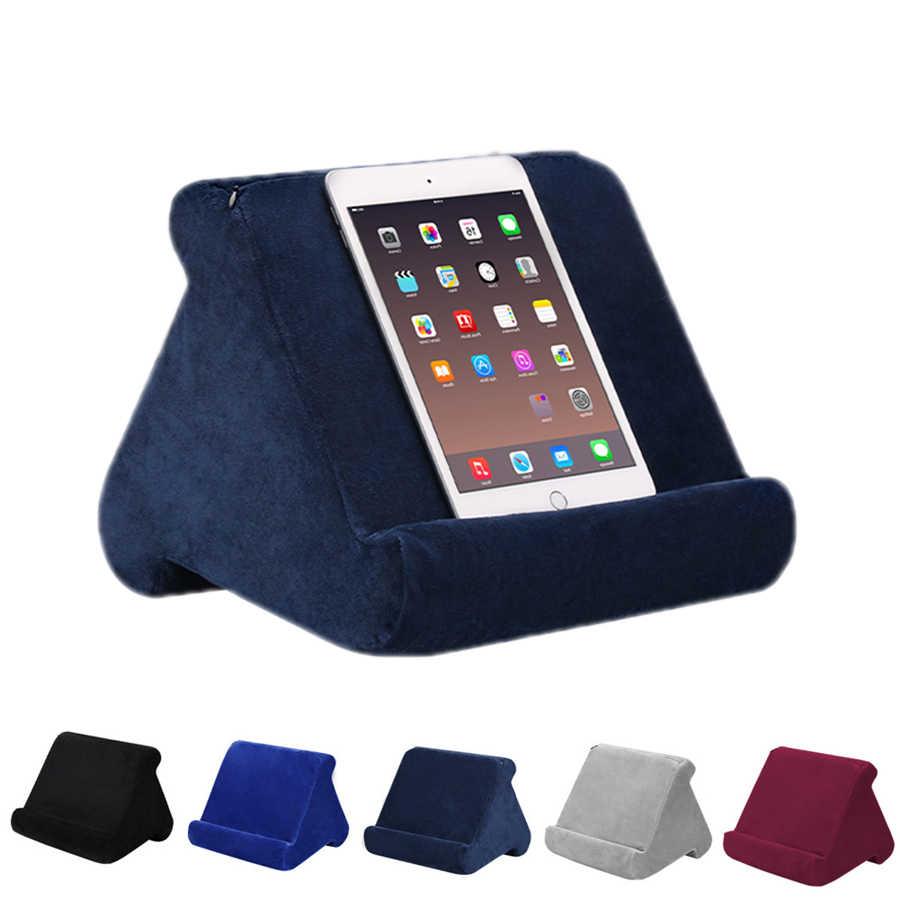 Çok açılı masa okuma tutucu yumuşak peluş yastık iPad cep telefonu için kitap okuma yastık ev için ofis malzemeleri