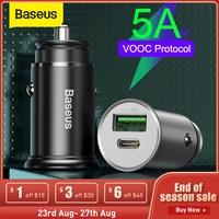 Baseus 30W Adattatore del Caricatore USB Caricabatteria Da Auto per il Telefono Mobile Veloce 5A VOOC SCP AFC Carica Rapida 4.0 PD 3.0 per il iPhone Xiaomi