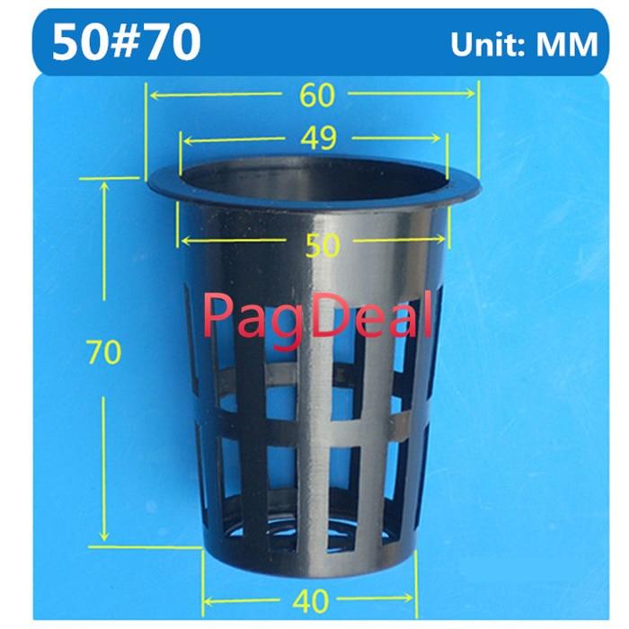 50pcs 50# Hydroponics Nursery Pot Sponge Cup Net Basket Hydroponic Aeroponic Agriculture Soilless Seedling Vegetable Mesh Pots