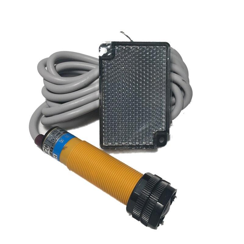 2m DC6-36V Barrier/Gate/Door Opener Photoelectric Switch Photocell Mirror Feedback Reflector Retroreflective Sensor