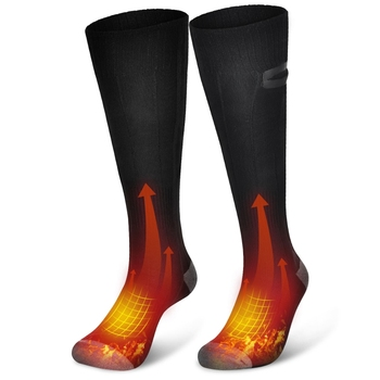 Winter Electric Heated Socks USB Rechargeable Adjustable Temperature Warm Socks With Battery Foot Warmer Unisex Thermal Socks