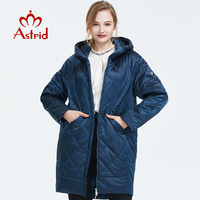 Astrid 2019 Autumn new arrival women down jacket outerwear high quality with a hood long fashion style thin cotton coat AM 9176
