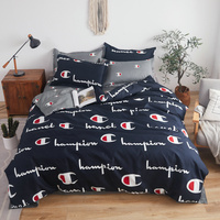 Bedding Set gray and black AB side Duvet Cover Sets 3/4pcs Bed Linen Twin Full Queen King Bedclothes for Family Use