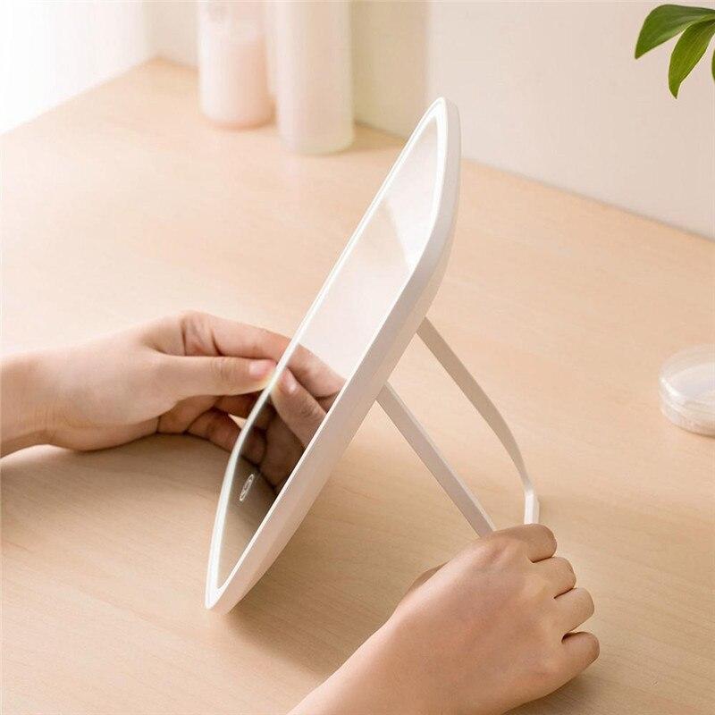 Espelho de maquiagem portátil led luz natural