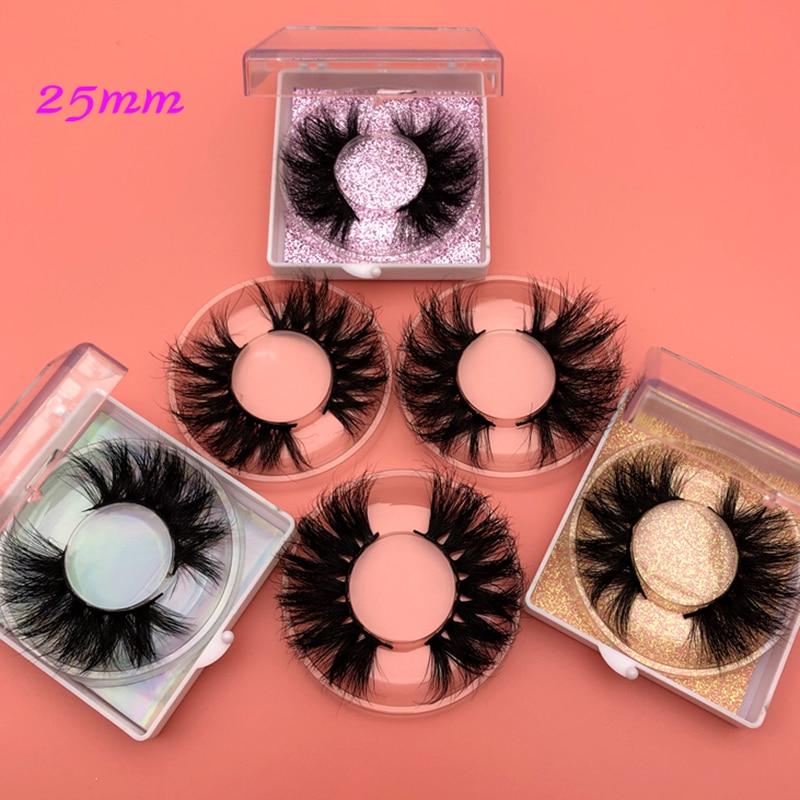 Image 5 - Mikiwi 25mm Mink Eyelashes 30/50 Wholesale 3D Mink Lashes Square case Free custom Logo packaging Label Makeup Box Mink Lashes-in False Eyelashes from Beauty & Health
