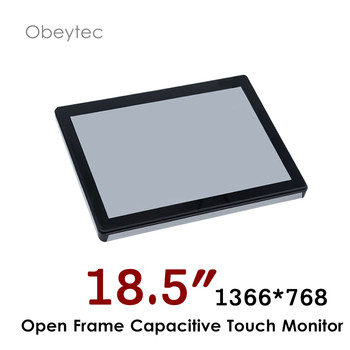 "18.5"" capacitive touch screen monitors for computer, 1366*768, 250nits, VGA DVi HDMI,  OB-OPM185"