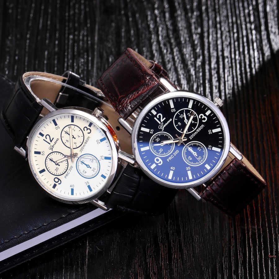 Reloj inteligente mujer Masculino שעון Blu Ray נשים גברים זכוכית שעון מזדמן ניטראלי קוורץ מדמה עור ספורט שעוני יד