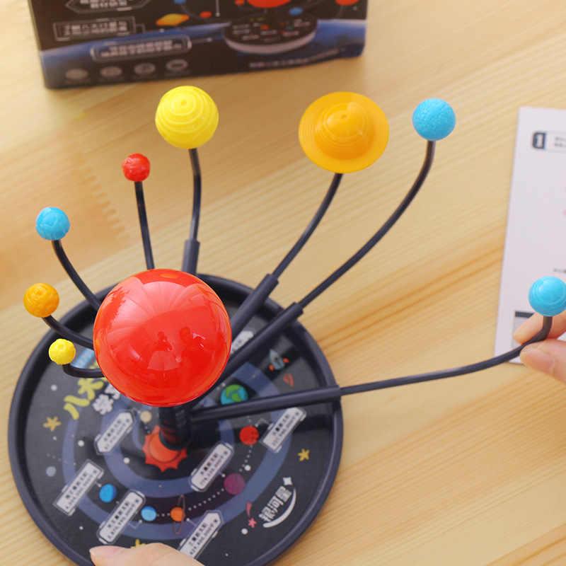 Montessori ของเล่นเพื่อการศึกษาเด็กการเรียนรู้วัสดุ Baby Intelligence Planets วิทยาศาสตร์พลังงานแสงอาทิตย์ระบบการสอนรุ่น