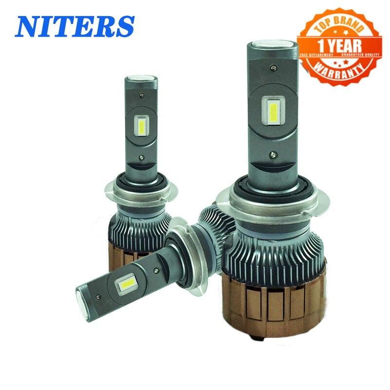 Niters V6S светодиодный ные фары h7 h1 h4 h11 9005 9006 9012 лампы Canbus Csp Chip Fog 6000K 100W 15000LM комплект автомобильных фар 12 В 24 В