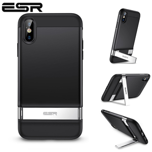 Image 1 - ESR Case for iPhone XR X XS Max SE2 8 7 Plus Metal Kickstand Case Vertical Horizontal Stand Bumper Cover for iPhone SE 2020 XS X