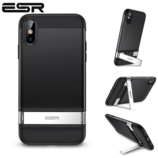 Esr caso para iphone xr x xs max se2 8 7 plus caso de metal kickstand vertical horizontal suporte pára choques capa para iphone se 2020 xs x
