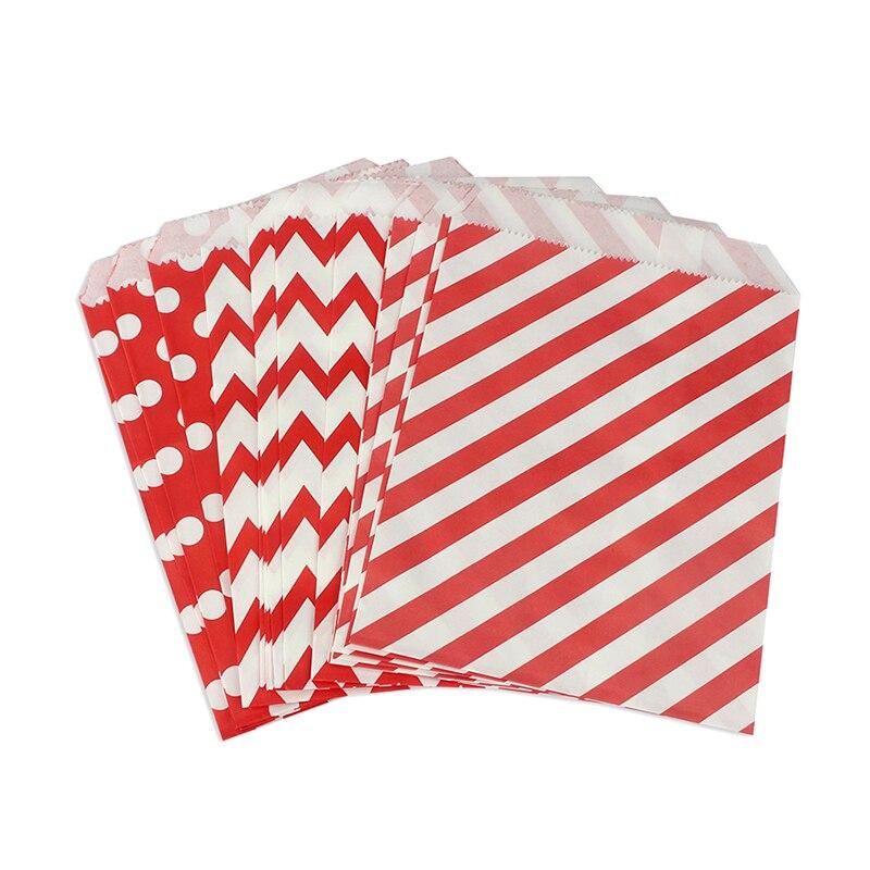 1500 sztuk deser stołowe czerwone w leczeniu torby papierowe w Chevron w paski i kropki, boże narodzenie upominek przyjęcie cukierki torby w Torby na prezenty i przybory do pakowania od Dom i ogród na  Grupa 1