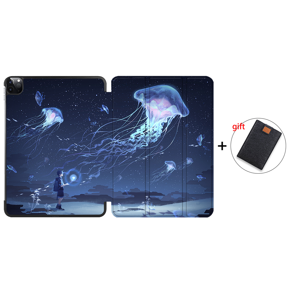 IP08 Purple MTT Case For iPad Pro 12 9 inch 4th Gen 2020 PU Leather Flip Stand Smart