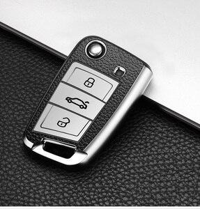 Image 5 - 2019 yeni yumuşak TPU araba anahtarı durum kapak için Volkswagen VW Golf 7 MK7 Tiguan mk2 Skoda Octavia için A7 kodiaq 2017 2018 2019
