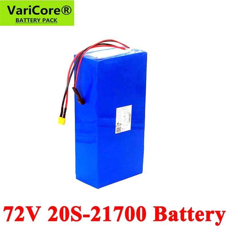 VariCore 20S 74V 25Ah 40Ah 50Ah 2500W batería de bicicleta eléctrica 21700 V 72V scooter Eléctrico Moto de la batería de litio con protección BMS