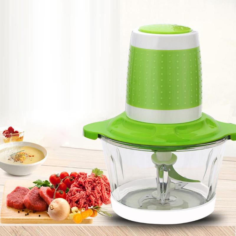 2L Electric Meat Grinder Fruit Vegetable Shredder Slicer Mincer Cutter Blender Stainless Steel Kitchen Accessories