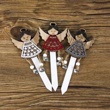 Xmas 2020 Christmas Cake Topper Wooden Crafts Cupcake Top Flag Decoration 3pcs/lot for New Year Party Wedding Supplies