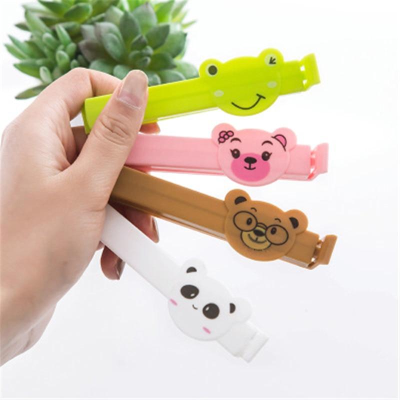 Lot Animal Motifs Cartoon Portable New Kitchen Storage Food Snack Seal Sealing Bag Clips Sealer Clamp Plastic Tool