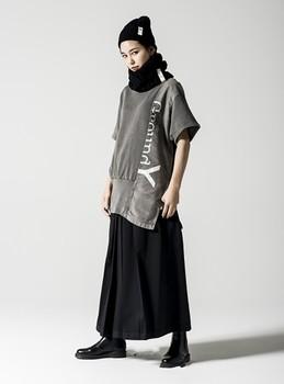 Męskie spodnie spódnica luźna szeroka nogawka spodnie plisowane spodnie moda męska młodzież moda młodzieżowa moda miejska nowa moda w europie an tanie i dobre opinie IKKB Harem spodnie Pełnej długości