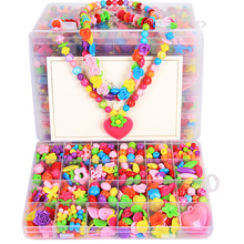 Handmade Toys Bracelet Necklace Toddlers Children Beads Jewelry-Making DIY Girl Creative