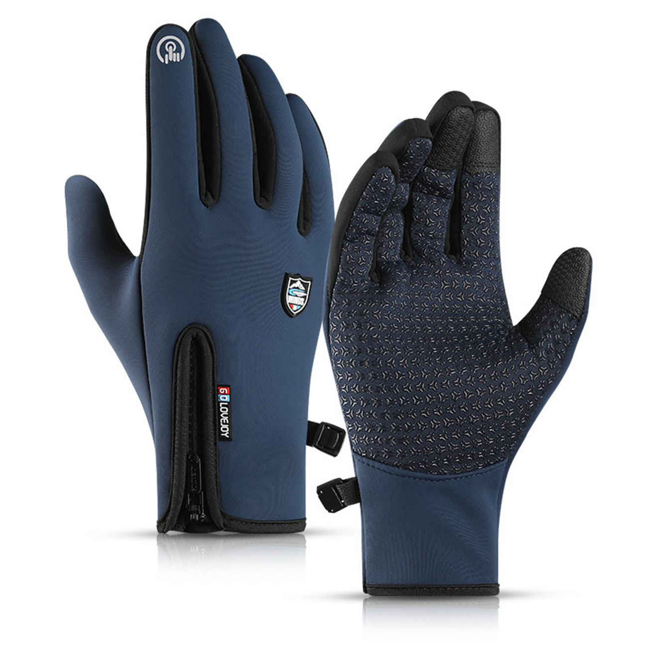 Capable Golovejoy Db42 Touchscreen Winter Full Finger Thermal Fleece Gloves Anti-slip Gloves Cycling Running Hiking Climbing Outdoor We Take Customers As Our Gods