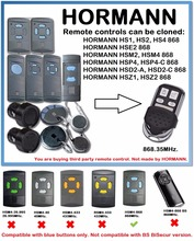 4 channel Hormann HSM4 868 mhz garage gate opener Compatible with HSM2, 868MHz door remote control command