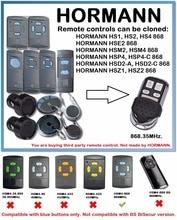 HORMANN HS1 HS2 HS4 868 MHZ Cloning Remote Control HORMAN HSM4 HSM2 Wireless 4 Keys Duplicator Gate control for Garage Gate Door 868mhz electric garage door remote control for hormann hs1 hsm1 hsm2 clone new car styling