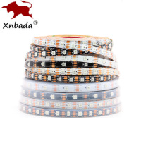 DC12V WS2815(WS2812B WS2813 Update) RGB Led Pixel Strip,Individually Addressable White/Black PCB Dual-Signal Led Flexible Light