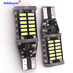 30pcs T15 W16W LED 12v 24v Super Bright 30 SMD 4014 LED Canbus No ERROR Car Backup Stop Reserve Lights Bulb Brake Lamp White 12V