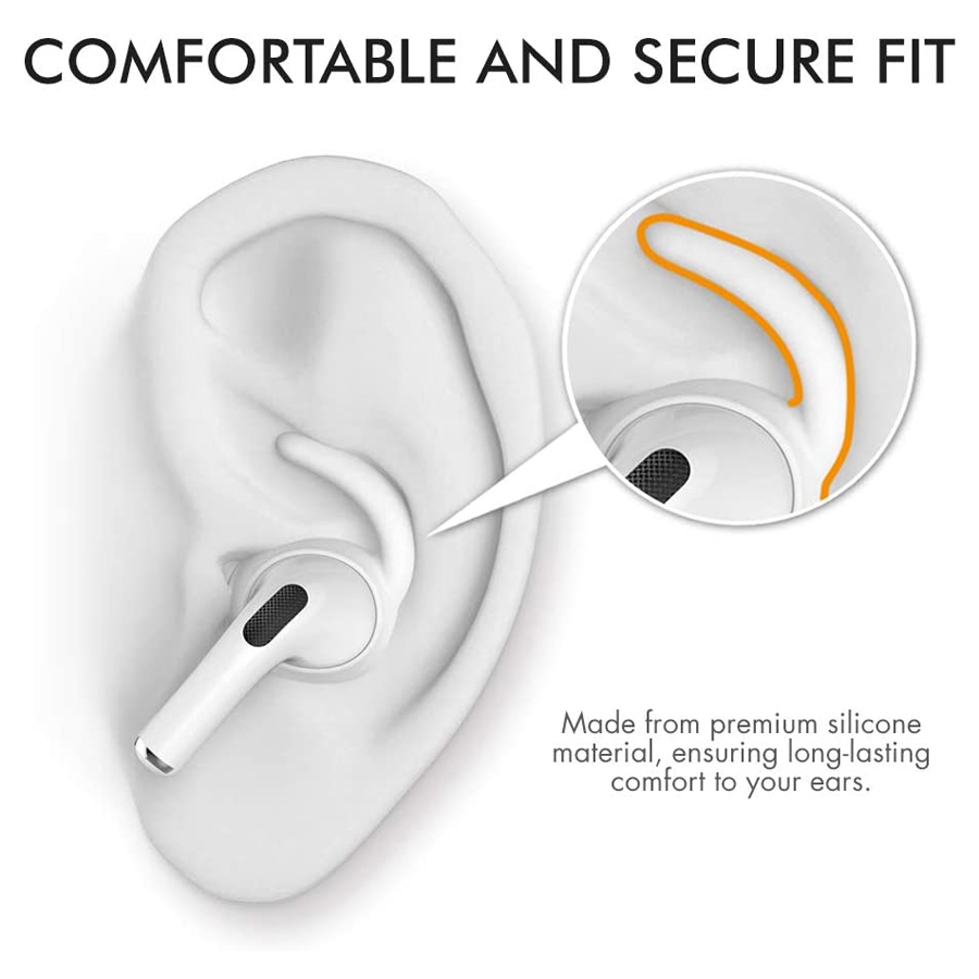 cheapest AhaStyle 3 Pairs Ear Hooks for AirPods Pro Anti-Slip Earbuds Covers Tips   Silicone Pouch Accessories for Apple AirPods Pro