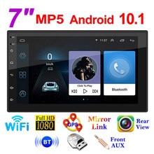7 inç Android 10.1 araba radyo multimedya Video oynatıcı Wifi Gps otomatik Stereo çift 2 Din araba Stereo USB Fm radyo
