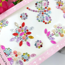 1Sheet Acrylic Dragonfly Motif Rhinestones  DIY Hand Making Phone Car Decoration Scrapbooking Craft Sticker Crystal Accesories