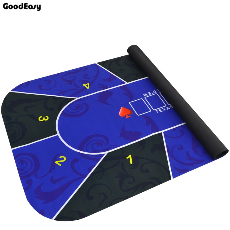 Texas Hold'em Poker Mat Tablecloth Rubber Mat Board Game Table Digital Printing Suede Casino Layout Poker Accessories 1.8*0.9m