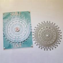 YaMinSanNiO Mandala Metal Cutting Dies Flower Frame Cover for DIY Scrapbooking Card Album Embossing Die Cut New Template