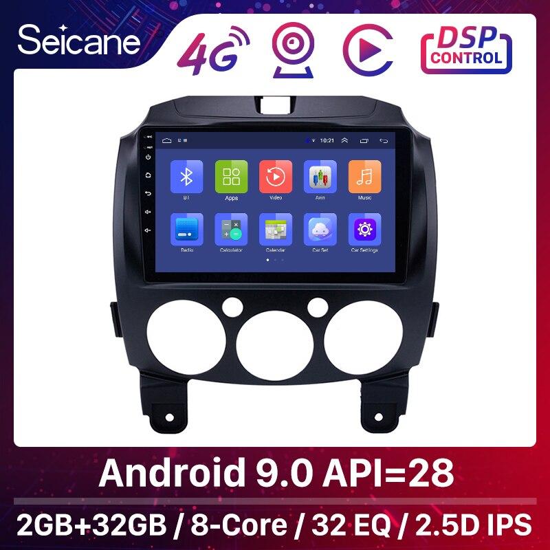 """Seicane IPS أندرويد 9.0 2din 9 """"راديو السيارة لتحديد المواقع والملاحة لمازدا 2/جينشيانغ/دي/الجيل الثالث 2007- 2010 2011 2012 2013 2014"""