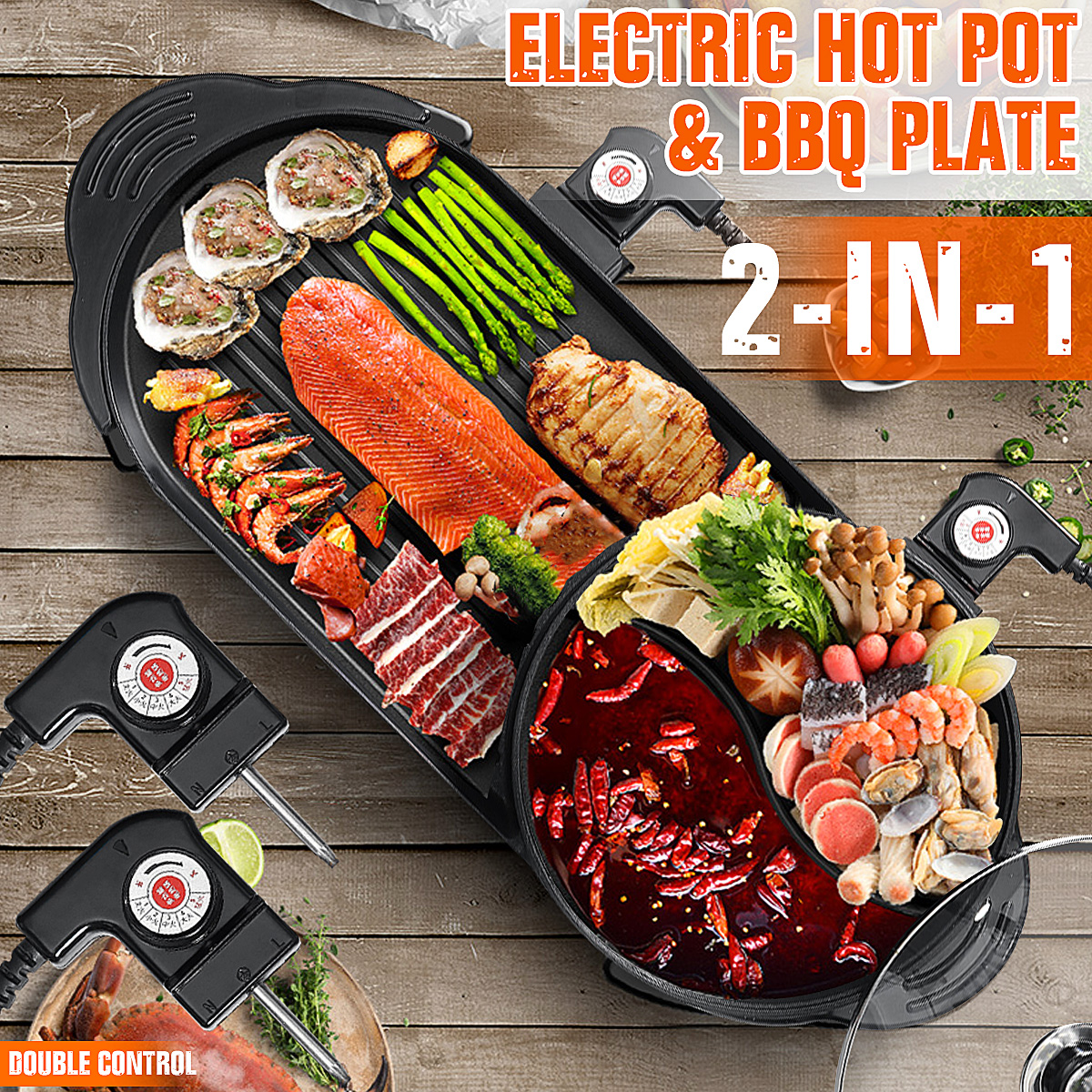 Warmtoo Larger 2 In 1 220V Electric Hot Pot Oven Smokeless Barbecue Machine Home BBQ Grills Indoor Roast Meat Equipment