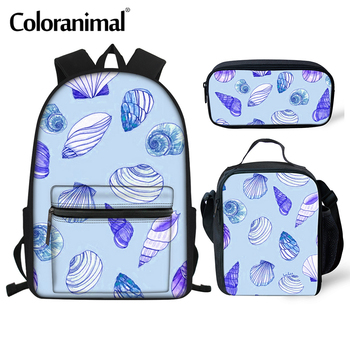 Coloranimal Women New Bag Female Student College Wind Bag Shell printing Backpack Travel Bag High Quality Backpack Men Casual