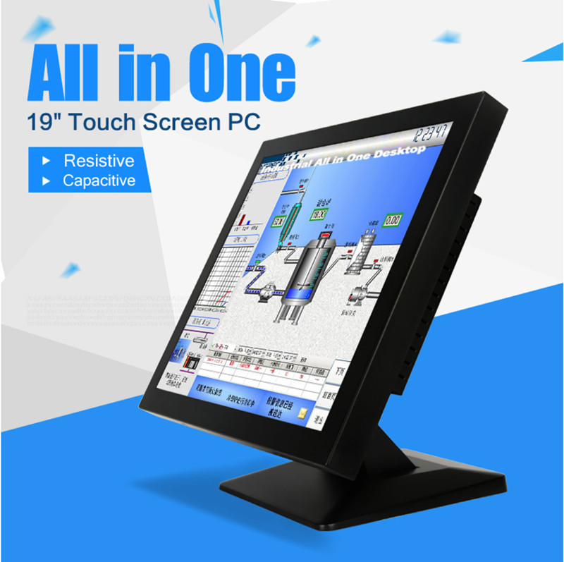 Fansless 19 Inch Industrial Touch Screen Panel PC With Intel J1900 Processor Wireless Lan