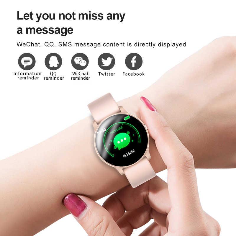 LIGE 2019 新防水スマート腕時計女性心拍数監視健康スマートウォッチの男性歩数計フィットネストラッカースマートブレスレット
