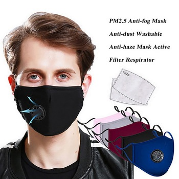 Anti Pollution PM2.5 Face Mask Dust Respirator Washable Reusable Masks Cotton Unisex Mouth Muffle
