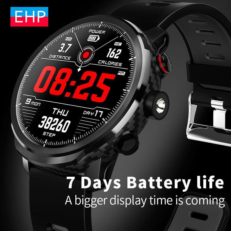 Big Screen HD Smart Watch Big Battery Waterproof Multi-function Payment Watch Flashlight Weather Forecast For Apple Iphone