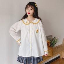 Женская белая блузка с вышивкой «Питер Пэн»