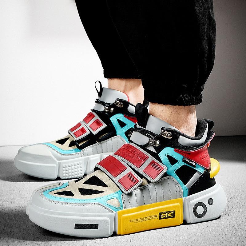 Homme mode planche baskets homme chaussures décontractées homme respirant maille baskets chaussures antidérapant chaussures plates homme zapatos hombre B341
