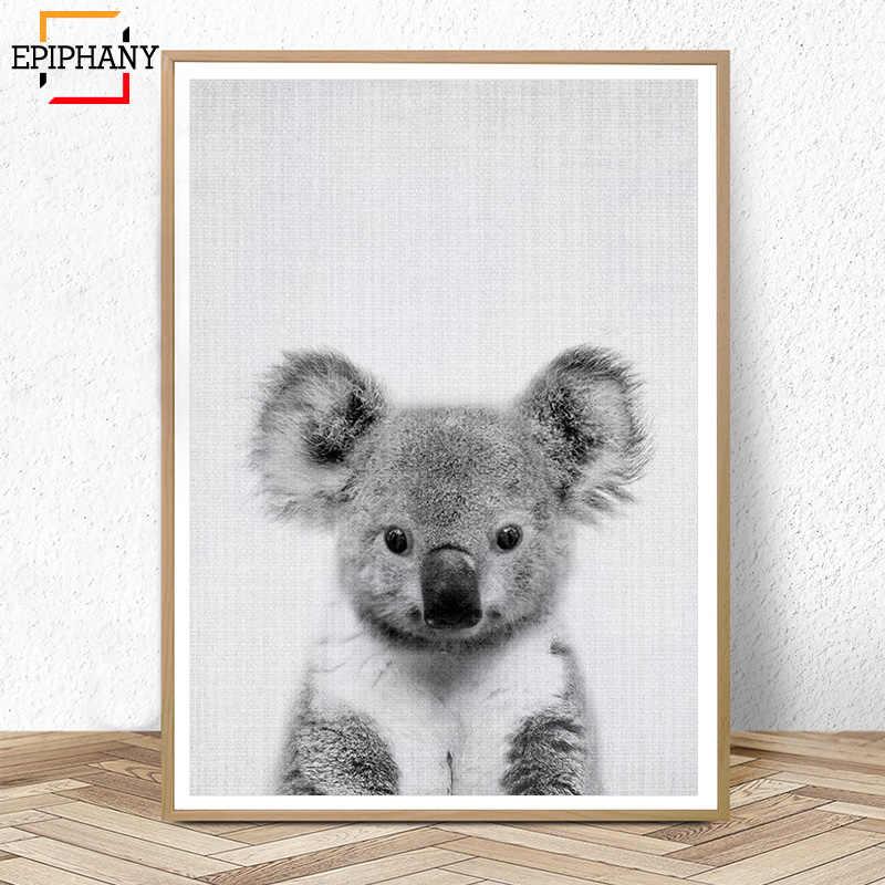 Koala Druck Australischen Tier Kindergarten Decor Nordic Wand Kunst Malerei Bild Baby Tiere Poster und Druck Kinder Zimmer Dekoration