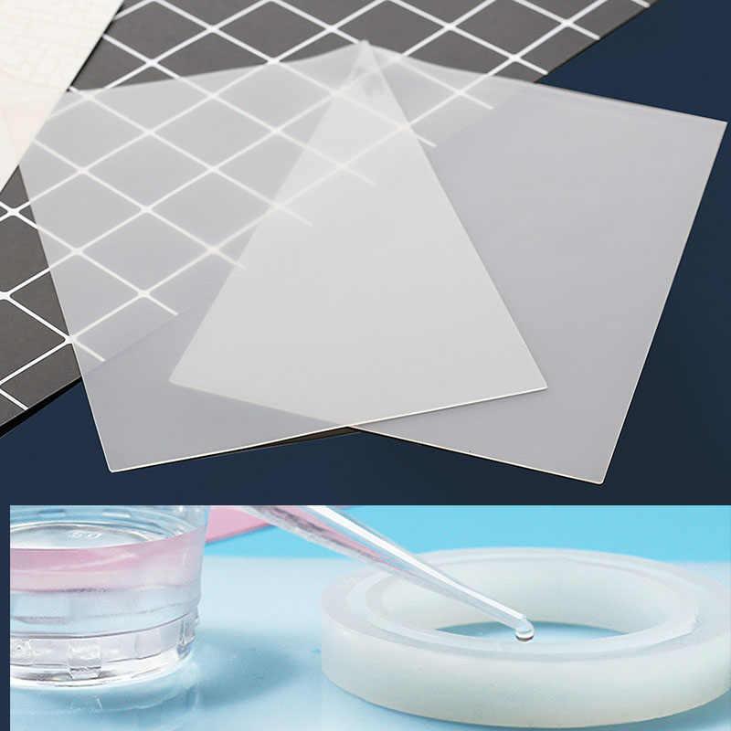 1 Pcs ברור מחצלת כרית שרף למלאכה התנגדות סיליקון Pad דביק צלחת סיליקון עובש כלי UV אפוקסי שרף תכשיטים ביצוע