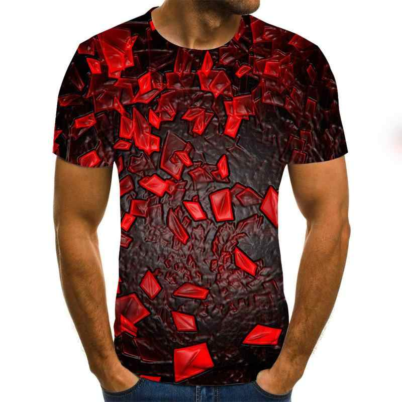 2020 nova tridimensional vortex t-shirts masculina verão 3d impressão casual 3d t camisa topos XXS-6XL