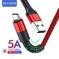 Кабель USB Type-C 5A для Huawei P40 Mate Xiaomi Redmi QC 3,0, зарядный кабель USB Type-C для Samsung Date