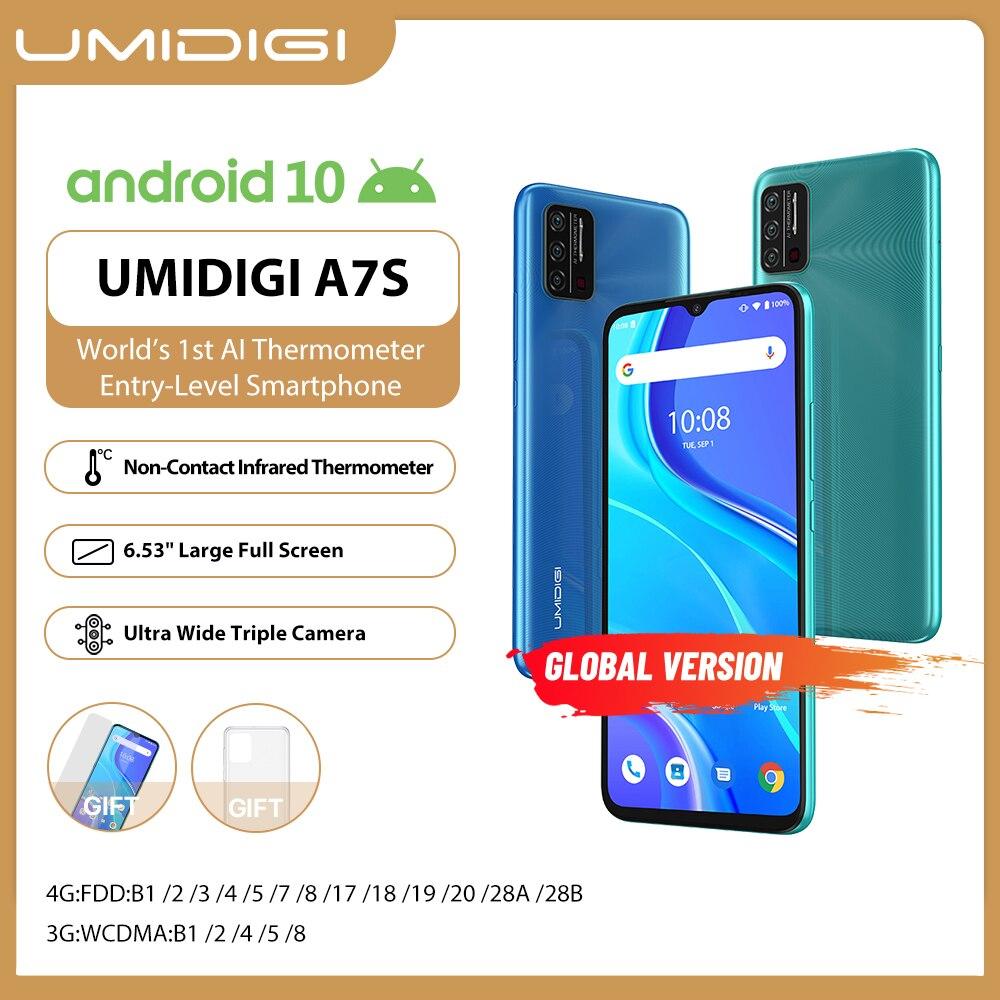 В наличии на складе UMIDIGI A7S смартфон 6,53